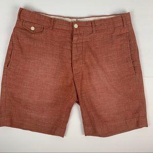 POLO RALPH LAUREN Mens Chino Shorts Rust Size 33